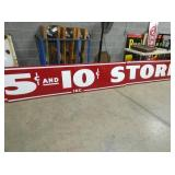 VIEW 3 2FT. X 24FT. PORC. STORE SIGN