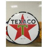 1958 6FT. PORC. TEXACO SIGN