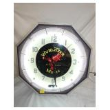 19IN WURLITZER NEON CLOCK
