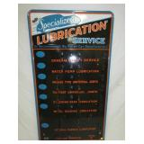36X64 PORC. LUBRICATION SERVICE DISPLAY