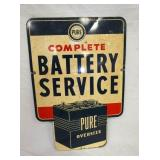 24X35 PURE BATTERY SERVICE SIGN