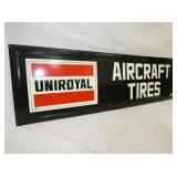 VIEW 2 LEFTSIDE EMB. AIRCRAFT TIRES SIGN