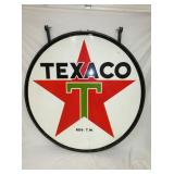 6FT. PORC. 1957 TEXACO SIGN