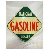 45IN NATIONAL GASOLINE DEALER SIGN