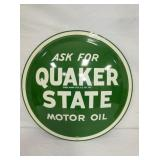 NOS 24IN 1959 QUAKER STATE BUBBLE SIGN