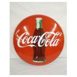 24IN PORC. COKE BUTTON W/ BOTTLE