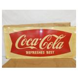 18X40 COKE FISHTAIL SLED SIGN