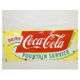 12X18 PORC. COKE FOUNTAIN SERVICE SIGN