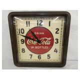 16X16 ORIG. WOOD FRAME COKE CLOCK