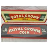 2 4X20 ROYAL CROWN FRAMED DOOR SIGNS