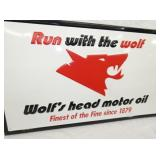 VIEW 2 WOLFS HEAD EMB. SIGN