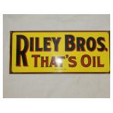 6X13 RILEY BROS TIN SIGN