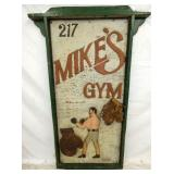 24X48 MIKES GYM WOODEN CIRCUS SIGN