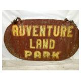 42X60 WOODEN ADVENTURE LAND PARK SIGN