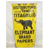 16X28 PORC. ELEPHANT BRAND PAPERS SIGN