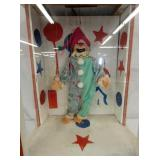 14 1/2X27 ANIMATED JUMPY THE DANCING CLOWN