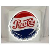 PEPSI COLA BUTTON NEON SIGN