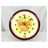 20IN SHELL NEON CLOCK