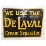 12X16 1928 EMB. DELAVAL CREAM SEPARATOR SIGN
