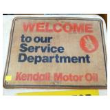 18X24 WELCOME KENDALL MOTOR OIL SIGN