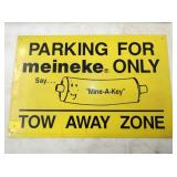 12X18 MEINEKE PARKING SIGN