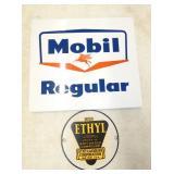 MOBIL REG., ETHYL PUMP PLATES