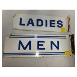 PORC. LADIES AND MEN FLANGE SIGNS