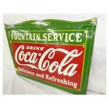 VIEW 2  PORC. COKE FOUNTAIN SERVICE SIGN