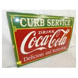 VIEW 2 PORC. CURB SERVICE COKE SIGN