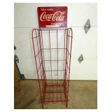 COKE COLA CARTON RACK W/ SIGN