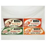 SET. NORKA ROOT BEER SIGNS