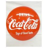 24IN PORC. DRINK GOOD TASTE COKE BUTTON