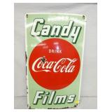 18X30 PORC. COCA COLA CANDY/FILMS SIGN