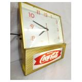 VIEW 2 CLOSEUP EARLY COKE FISHTAIL CLOCK