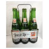 7UP ALUM. CARRIER W/ BOTTLES