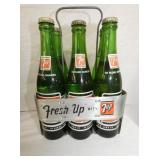 VEIW 3 OTHERSIDE 7UP CARRIER W/ BOTTLES