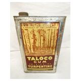 5G. TALOCO GUM TURPENTINE CAN