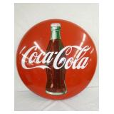 36IN PORC. COKE BUTTON W/ BOTTLE