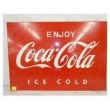 20X28 SELF FRAMED COKE SIGN