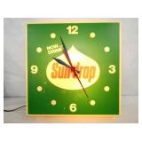 LIGHTED SUNDROP CLOCK