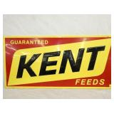 22X47 EMB. KENT FEEDS SIGN