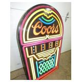 VIEW 2 LIGHTUP COORS JUKE BOX WALL SIGN