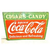 42X60 PORC. COKE CIGARS-CANDY SIGN