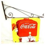 27X27 PORC. COKE DISPENSER SIGN