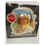 17X17 1951 COWGIRL COKE CARDBOARD