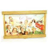 4X38 FRAMED COKE TIME CARDBOARD