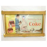 25X41 COKE BRIGHTEN YOUR MEALS CARDBOARD