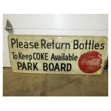 20X48 COCA COLA RETURN BOTTLES SIGN