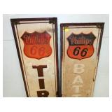 VIEW 2 CLOSEUP PHILLIPS 66 VERTICAL SIGNS