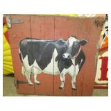 43X44 HANDPAINTED COW DOOR